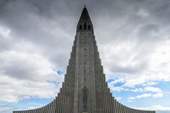 Hallgrimskirkja parish church in Reykjavik, Iceland Royalty Free Stock Photo