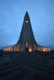 Hallgrimskirkja, ReykjavÃk, Islândia Imagem de Stock Royalty Free