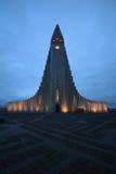 Hallgrimskirkja, ReykjavÃk, Island Lizenzfreies Stockbild