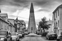 Hallgrimskirkja in Reykjavik Stock Photo