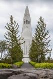 Hallgrimskirkja in Reykjavik Lizenzfreie Stockfotos