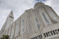 Hallgrimskirkja in Reykjavik Lizenzfreie Stockbilder