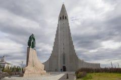 Hallgrimskirkja in Reykjavik Lizenzfreies Stockbild
