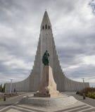 Hallgrimskirkja in Reykjavik Stockbild