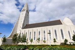 Hallgrimskirkja in Reykjavik Iceland Royalty Free Stock Photo