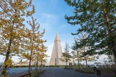 Hallgrimskirkja Reykjavik, Island Royaltyfria Foton