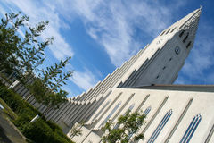Hallgrimskirkja - Reykjavik-Kathedrale Stockfotografie