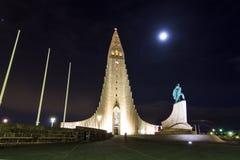 Hallgrimskirkja statue Stock Photo