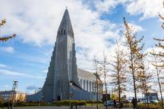 Hallgrimskirkja w Reykjavik, Iceland Obraz Stock