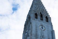 Hallgrimskirkja w Reykjavik, Iceland Obrazy Royalty Free