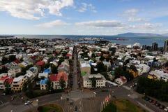 hallgrimskirkjaiceland reykjavik sikt fotografering för bildbyråer