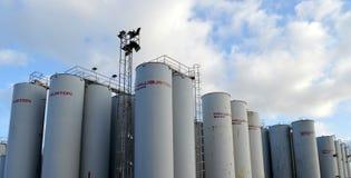 Halliburton Baroid składowi silosy, Aberdeen schronienie Fotografia Stock
