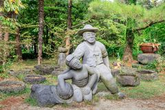 Hallim公园,其中一个10月5日的最普遍的旅游胜地, 201 免版税库存图片