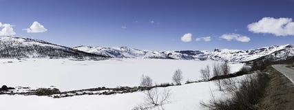 Hallingskarvet é uma cordilheira no esticão do sul de Noruega imagem de stock royalty free