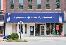 Hallmark Cards is a privately owned American company. Pontiac, Illinois - July 16, 2017: Hallmark Cards is a privately owned American company. Founded in 1910 Royalty Free Stock Photography