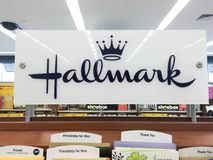 Hallmark Greeting Cards at Grocery Store Royalty Free Stock Photography
