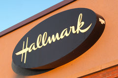 Hallmark Sign Royalty Free Stock Photography