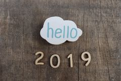 Hallo 2019 Lizenzfreies Stockbild