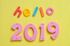 Hallo 2019 Lizenzfreie Stockfotos