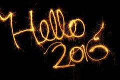 Hallo 2016 Lizenzfreie Stockbilder