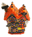 Hallo-bean house two. Halloween food house made of candy Royalty Free Stock Photography