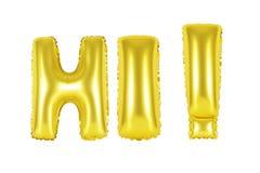 Hallo, begroetend, gouden kleur Royalty-vrije Stock Fotografie
