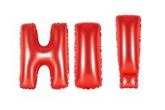 Hallo, begroetend, rode kleur Stock Foto's