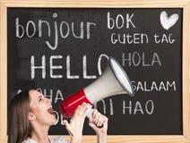 Hallo in den verschiedenen Sprachen lizenzfreie stockfotos