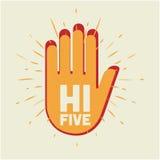 Hallo fünf Stockfotos