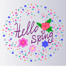 Hallo Frühling Lizenzfreies Stockbild