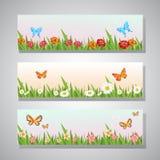 Hallo Frühlingsfahne Stockbilder