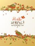 Hallo Frühlingskarte Lizenzfreies Stockfoto
