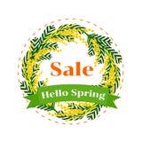 Hallo Frühlingsverkauf Stockbilder