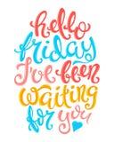 Hallo Freitag-Plakat stock abbildung