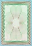 Hallo gedetailleerd guilloche leeg certificaat Stock Foto