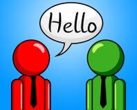 Hallo Gesprächs-Durchschnitte, wie Sie und Beratung sind Stockbild
