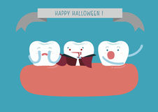 Hallo Halloween of dental Royalty Free Stock Photos