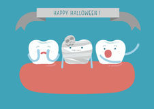 Hallo Halloween of dental Royalty Free Stock Photography