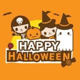 Hallo Halloween-Fahne kawaii Kostüm Lizenzfreie Stockfotos