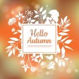 Hallo Herbstkartendesign Lizenzfreies Stockfoto