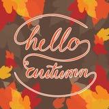 Hallo Herbstquadrat Stockfoto
