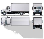 Hallo-Hi-detailed commerciële vrachtwagen Royalty-vrije Stock Foto's