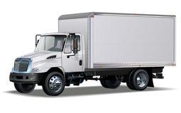Hallo-Hi-detailed commerciële vrachtwagen Stock Afbeelding