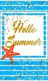 Hallo Hot Summer. On nice background Stock Image
