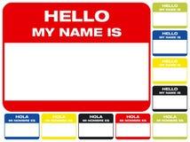 Hallo, ist mein Name Stockbild