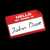 Hallo ist mein Name Lizenzfreies Stockfoto