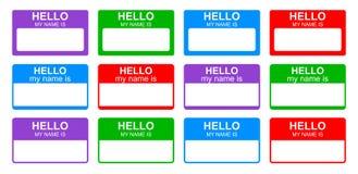 Hallo ist mein Name vektor abbildung
