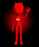 Hallo ist mein Name der Teufel Stockfoto