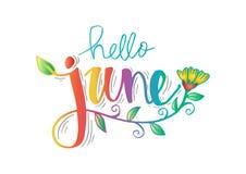 Hallo Juni stock abbildung