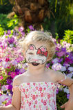 Hallo kitty face painting Stock Photo